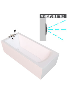 Related QX Eden 1700 x 700mm Shower Bath With Option 2 Whirlpool System