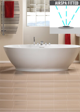 Related QX Oregon 1850 x 850mm Standard Spec Freestanding Bath With Option 4
