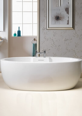 Related QX Opal 1700 x 840mm Freestanding Bath With Pre-fitted Click-Clack Waste