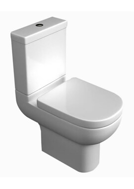 >QX Alaska Close Coupled WC Pan With Cistern And Soft Close Seat