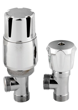 Related Frontline Angled Thermostatic Lockshield Radiator Valves