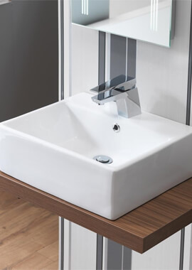Related QX Portland 470 x 400mm Vanity Basin With 1 Taphole