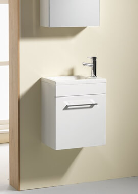 Related QX Eden 400mm Wall Hung Base Unit And Basin - Gloss White