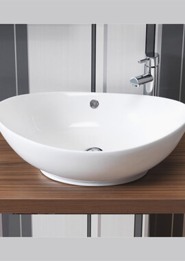 Related QX Helena 595 x 375mm Round Vanity Basin