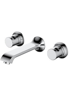 Related Frontline Basque Wall Mounted 3 Tap Hole Basin Mixer Tap
