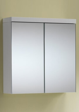Related QX Eden 600mm 2-Door Mirrored Cabinet - Gloss White
