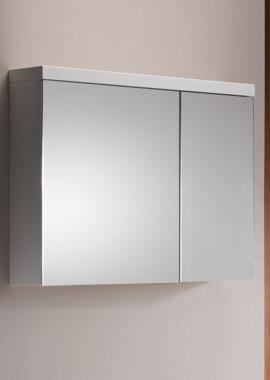 Related QX Eden 800mm 2-Door Mirrored Cabinet - Gloss White