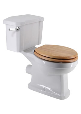 Related Frontline Holborn Close Coupled Toilet With Wooden Quick-Release Seat