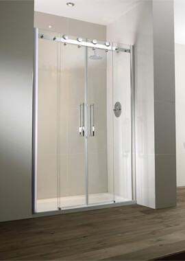 Related Frontline Aquaglass+ 8mm Frameless 2 Door Recess Slider 1200mm