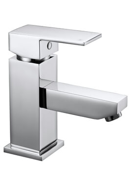 Related Frontline Cube Chrome Basin Mixer Tap With Click-Clack Waste