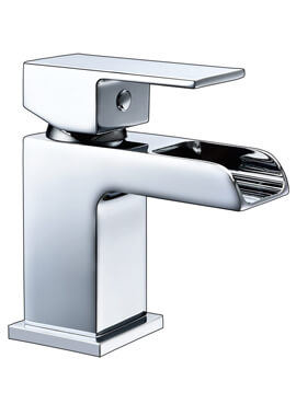 Related Frontline Stream Mini Waterfall Basin Mixer Tap With Click Clack Waste