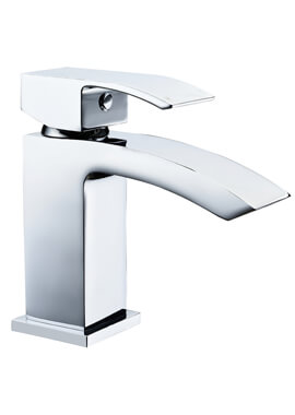 Related Frontline Pure Mini Waterfall Basin Mixer Tap With Click Clack Waste