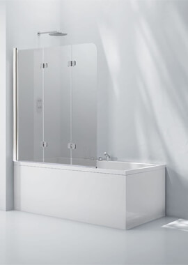 Related Frontline Aquaglass+ 6mm Tinted Glass 3 Fold Bath Screen 1200 x 1400mm
