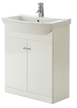 Related Frontline Aquapure Cloakroom Unit With Semi Recessed Basin - CV29432/000