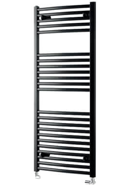 Related Towelrads Pisa 600mm Wide Black Curved Towel Rail