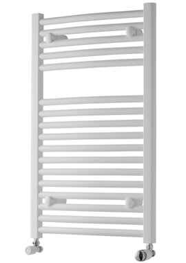 Related Towelrads Pisa 600mm Wide White Curved Towel Rail