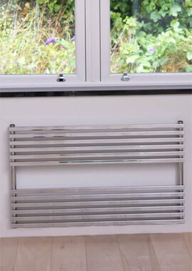 Related Towelrads Oxfordshire 1000 x 600mm White Horizontal Towel Rail